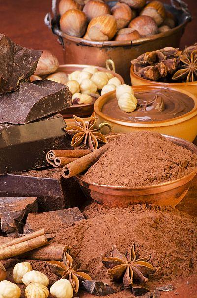 cacao con cioccolato e nocciole