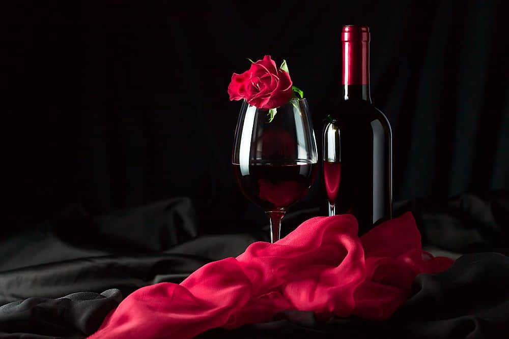 pahar vin rosu