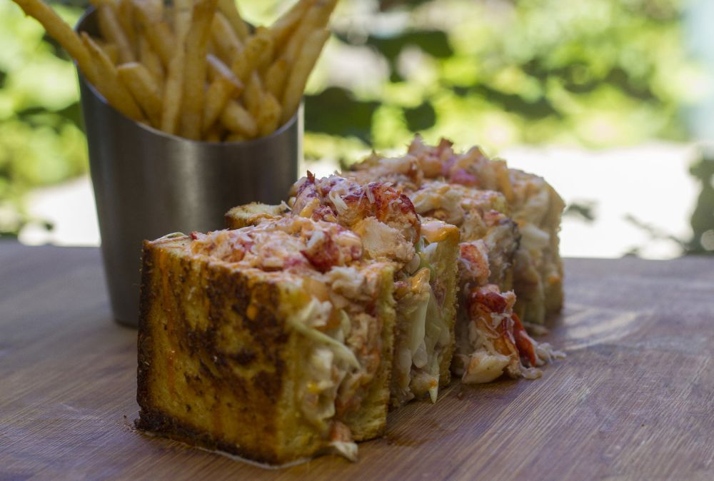 DTH Lobster and Crab Stuffed Grilled Cheese